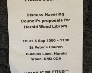 Harold Wood Library - Public Meeting
