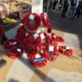 Remembrance Sunday at War Memorial outside Harold Wood Library